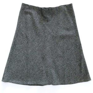 LOFT Women's Gray A Line Pull On Skirt L